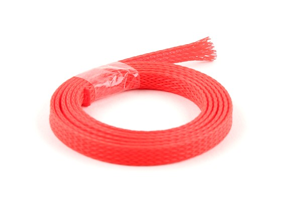 Wire Mesh Guard Neon Rood 6mm (1m)