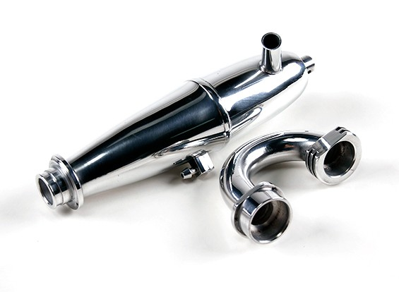 1/8 Schaal Nitro Truggy Tuned Pipe and Manifold Set