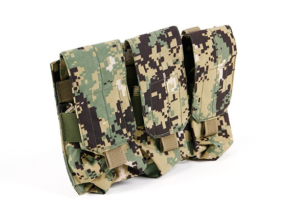 SWAT Molle M4 Triple Mag Pouch (AOR2)