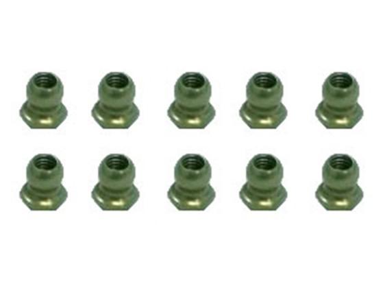7075 Aluminium Teflon Coated 4.8mm Hex Ball Stud L = 4 (10st) - 3Racing SAKURA FF 2014
