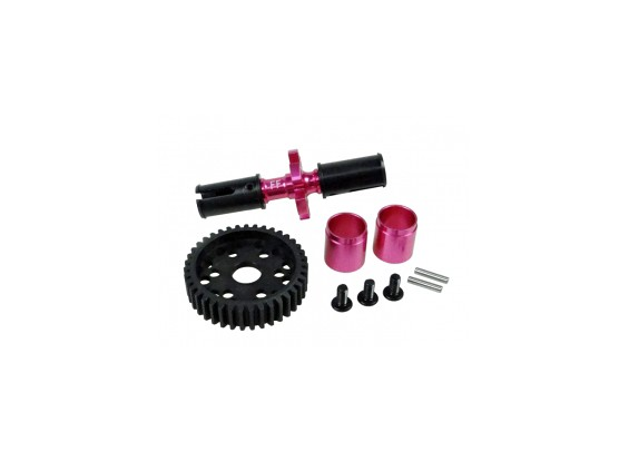 Aluminium front Solid Axle Set - 3Racing SAKURA FF 2014