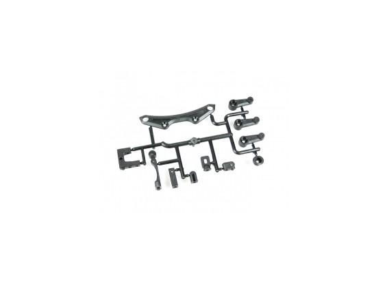 Voor Boven Bumper en Servo Horn Set - 3Racing SAKURA FF 2014