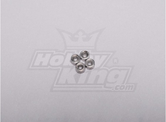 HK-250GT Ball Bearing 4 x 2 x 1,5 mm (4 stuks / set)