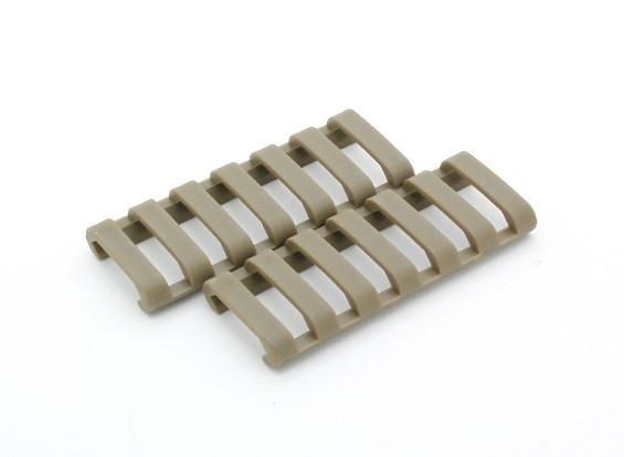 Ergo 7-slot PROFILE Ladder rail deksel (2 stuks / zak, Dark Earth)