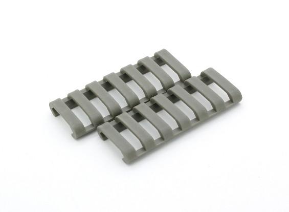 Ergo 7-slot PROFILE Ladder rail deksel (2 stuks / zak, Gebladerte Groen)