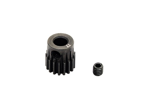 Hobbyking ™ 0.6M gehard staal Helicopter Pinion Gear 5mm Shaft - 17T