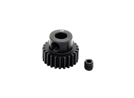 Hobbyking ™ 0.6M gehard staal Helicopter Pinion Gear 5mm Shaft - 24T