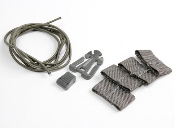 FMA Helm gemodificeerd met rubber pakken (Foliage Green)