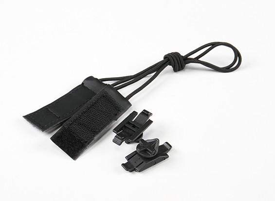 FMA Goggle Bungee Velcro Strap Kit (Zwart)