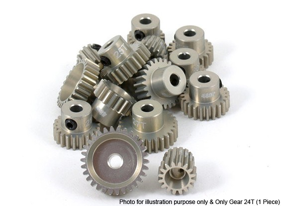 Revolution Ontwerp Ultra Aluminium 48 Pitch Pinion Gear 24T (1 Stuk)