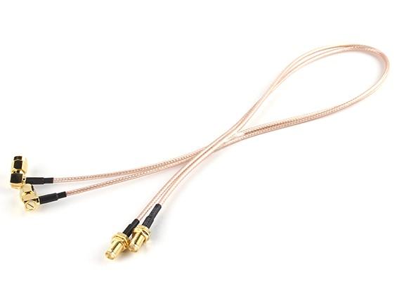 SMA Plug <-> SMA Jack 500mm RG316 Extension (2pcs / set)