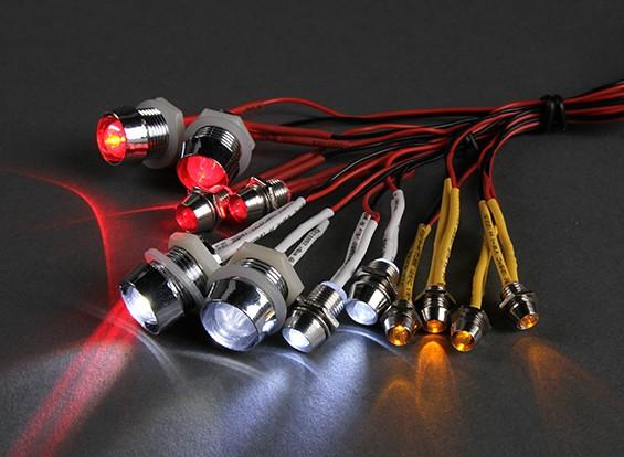 GT Vermogen 12 Piece Super Bright LED verlichting set voor RC Cars