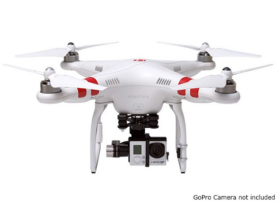 DJI Phantom 2 Quad Copter en ZENMUSE H3-3D 3-Axis Gimbal Combo (Ready To Fly)