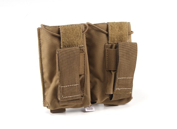 Grey Ghost Gear Double AK en Pistol Magazine Pouch (Coyote Brown)