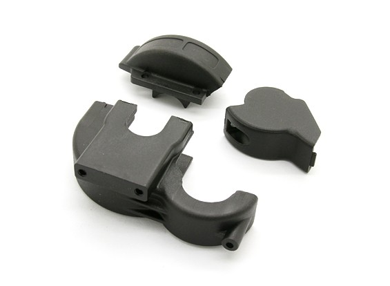 Center Gear Box Case - BSR Racing BZ-444 of BZ-444 Pro 1/10 4WD Racing Buggy