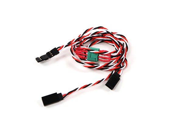 Wing Servo Connector 2xMale / 2xFemale Futaba met D-0953 MPX 500mm Lengte (2Pieces)