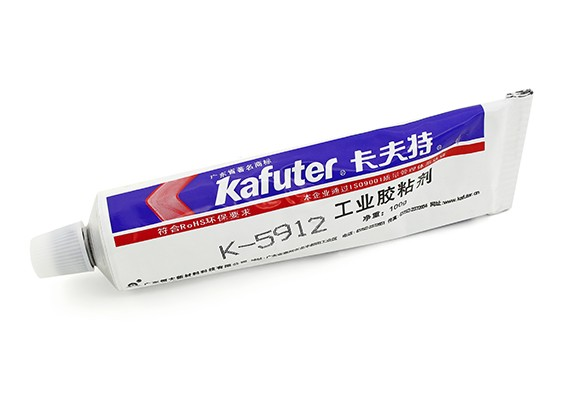 Kafuter K-5912 Industrial Strength Multi-Purpose Adhesive (zwart)