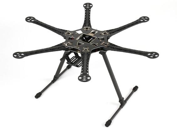S550 Hexcopter Frame Kit met geïntegreerde PCB 550mm (Zwart)