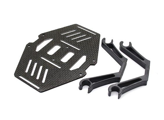 Carbon Multi-Rotor Dual Battery Mount Suits 8mm Booms