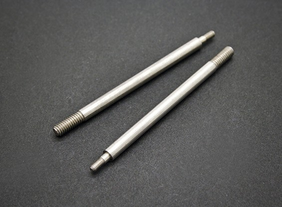 Rear Shock Shaft - Basher SaberTooth 1/8 Scale Truggy Nitro (2 stuks)