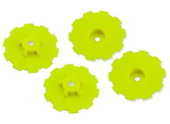 JConcepts Hazard SC10 / SC10 4x4 Wheel Dish - Geel - 4pc
