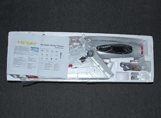 KRAS / DENT F-86 Desert Rats EDF Jet 70mm Electric Zet vrij, kleppen, Airbrake, EPO (PNF