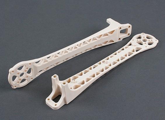 Upswept Arms Upgrade voor DJI Flamewheel Style Multirotors V500 / H550 (wit) (2 stuks)