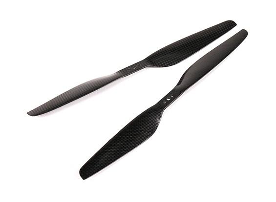 Multirotor Carbon Fiber T-Style Propeller 11x3.7 Black (CW / CCW) (2 stuks)