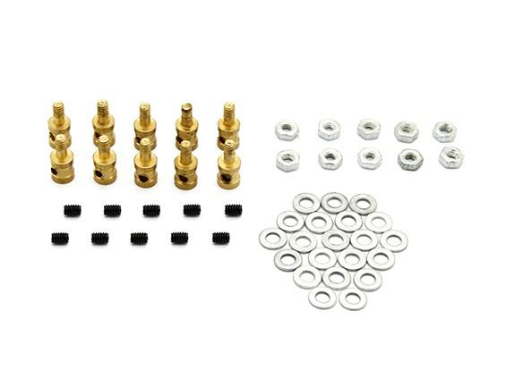 Brass Koppeling Stopper Voor 1.7mm stuurstangen (10st)