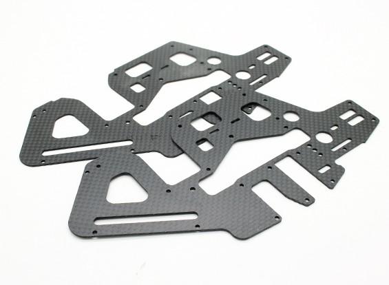 Assault 450DFC TT & Belt Flybarless 3D Helicopter Carbon Side Frames (2 stuks)
