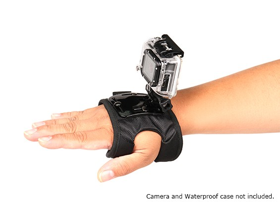 Verstelbare Glove Mount For GoPro of Turnigy Action Cams (Large)