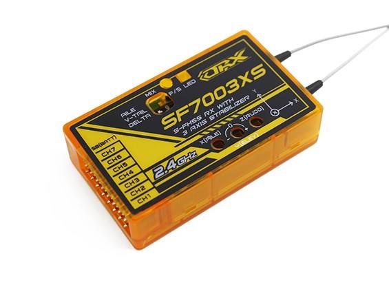 OrangeRx SF7003XS Futaba FHSS Compatibel 7ch 2.4Ghz Receiver w / FS, SBus & 3 Axis Stabilizer