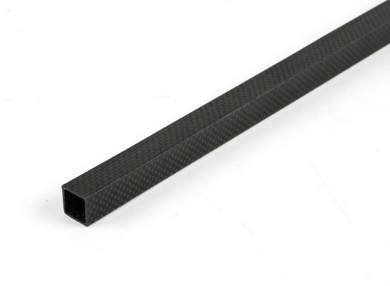 Fibre Plein Carbon Tube 15 x 15 x 300mm