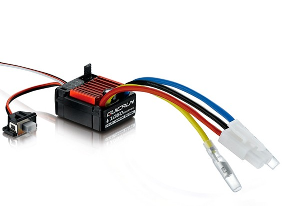 Hobbywing Quicrun 60A 2S-3S Waterproof Brushed ESC voor 1/10