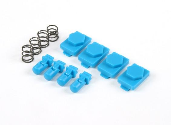 Hexmag Airsoft hexid Latchplates / Volgers 4 stuks Set (Nimbus Blauw)