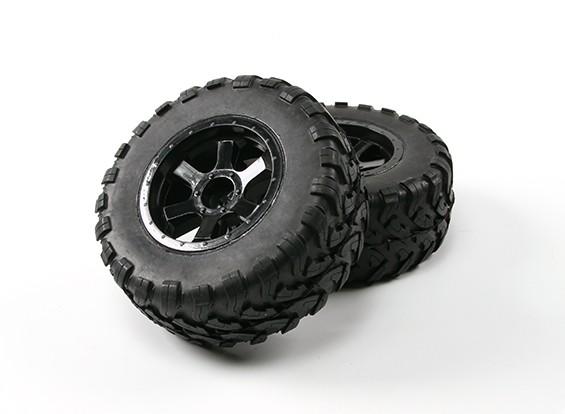 Desert Fox 2.2 SC Truck voorgelijmde Tyre (2 sets)