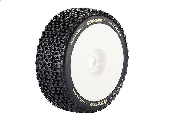 LOUISE B-PIRATE 1/8 Scale Buggy Banden Soft Compound / White Rim / Mounted
