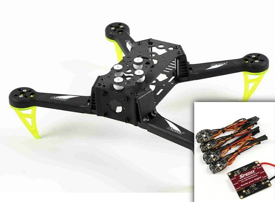 Spedix S250AQ FPV Racing Drone Kit W / ESC VOB Combo