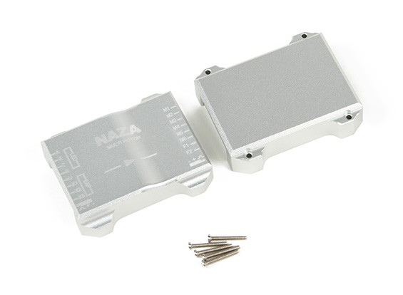 CNC Aluminium beschermhoes voor Naza Flight controller (zilver)
