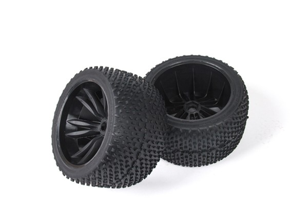 BSR Beserker 1/8 Truggy - Wheel Set (Black) (1 paar) 817351-K