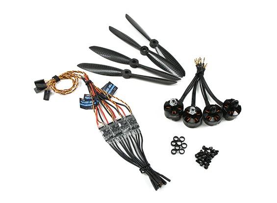 Emax Quad MT2204 2300kv borstelloze motor set met ESC & 6045 CW plus CCW