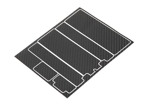 TrackStar Decorative Batterij Cover Panels voor Standard 2S Hardcase Black Carbon Pattern (1 Pc)