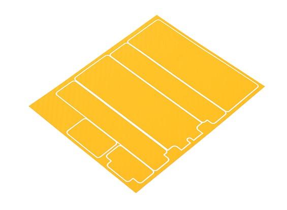 TrackStar Decorative Batterij Cover Panels voor Standard 2S Hardcase Geel Carbon Pattern (1 Pc)