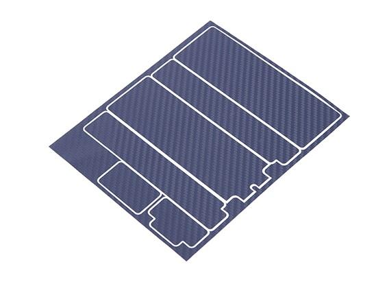 TrackStar Decorative Batterij Cover Panels voor Standard 2S Hardcase Blue Carbon Pattern (1 Pc)