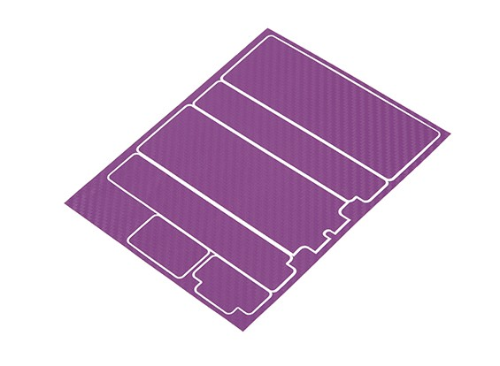 TrackStar Decorative Batterij Cover Panels voor Standard 2S Hardcase Paars Carbon Pattern (1 Pc)