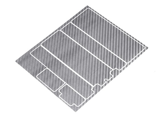 TrackStar Decorative Batterij Cover Panels voor Standard 2S Hardcase Silver Carbon Pattern (1 Pc)
