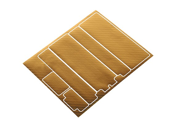TrackStar Decorative Batterij Cover Panels voor Standard 2S Hardcase Gold Carbon Pattern (1 Pc)