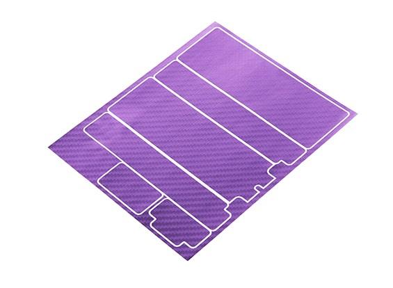 TrackStar Decorative Batterij Cover Panels voor Standard 2S Hardcase Metallic Purple Carbon Pattern