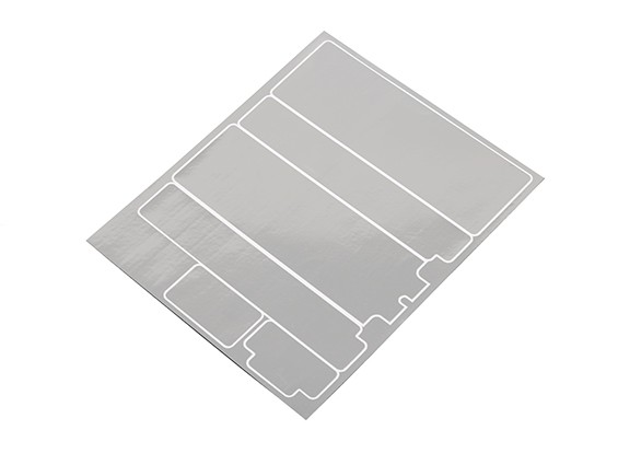 TrackStar Decorative Batterij Cover Panels voor Standard 2S Hardcase Chrome Kleur (1 Pc)