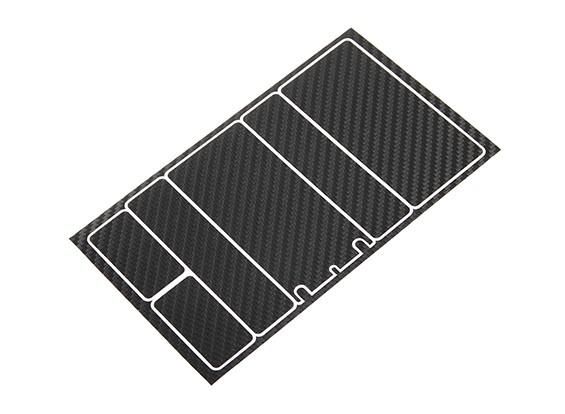 TrackStar Decorative Batterij Cover Panels voor 2S Shorty Pack Black Carbon Pattern (1 Pc)